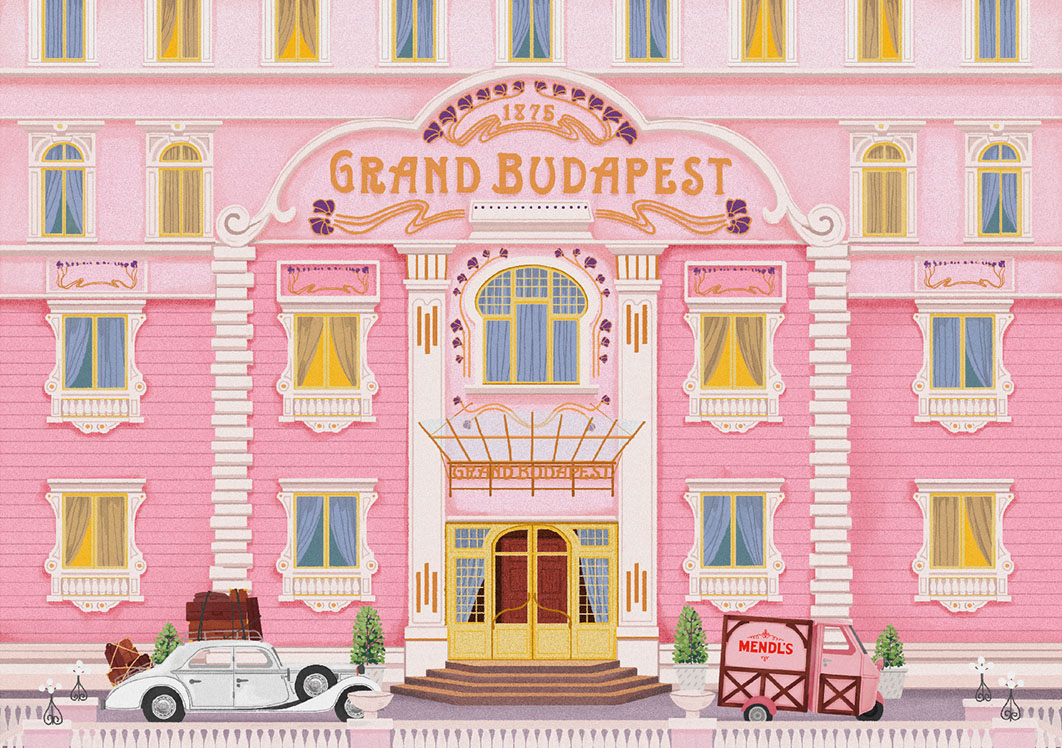 wes anderson postcards